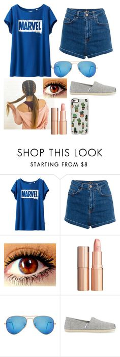 """""""Summer 💘💐"""" by mrs-panarin ❤ liked on Polyvore featuring Uniqlo, Pull&Bear, Typhoon, Charlotte Tilbury, Ray-Ban, TOMS and Casetify"""