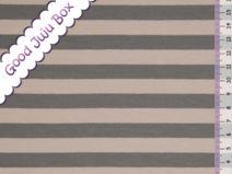 Jersey - More stripes 1 cm - Gris / Gris pardo