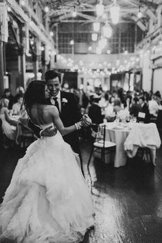 So in love with this couple! Perfection!  Photography: Benj Haisch  Read More: http://www.stylemepretty.com/washington-weddings/seattle/2013/12/24/urban-seattle-holiday-wedding/