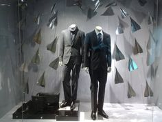 Boss Hugo Boss paper planes window display, Jakarta visual merchandising