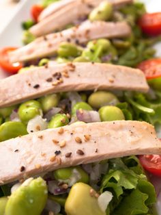 Tuna, broad bean | Healthy Lunch recipes -  Check this out ...