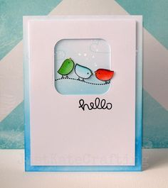 Lawn Fawn - Hello Sunshine _ adorable Hello card by Kate. | Flickr - Photo Sharing!