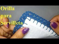 Crochet Edging Tutorial, Crochet Border Patterns, Crochet Lace Edging, Crochet Instructions, Crochet Designs, Crochet Doilies, Crochet Stitches, Free Crochet, Crochet Crafts