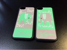 Best Friend Elephant iPhone 6 Case/ Friends Colorful iPhone 6 Plus Case/ matching iPhone 5/5S Case/ Infinite iPhone 4/4s Case