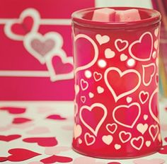I HEART YOU. Scentsy Valentine's Day warmer. #scentsy #warmer #valentine #heart #decor  https://dawnmschaffer.scentsy.us