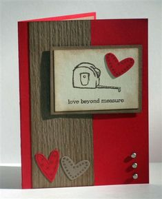 Masculine Valentine Card by lisa07058 - Cards and Paper Crafts at Splitcoaststampers