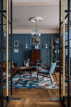 〚 Bold modern classic apartment for a family without kids in Moscow, Russia 〛 ◾ Photos ◾Ideas◾ Design Dark Interiors, Design Blog, Cafe Interior, Antique Interior, Architectural Digest, Apartment Design, Modern Interior Design, Modern Classic Interior, Belle Photo