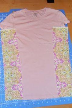 Side Panel Shirt Refashion: A Tutorial - crafterhours