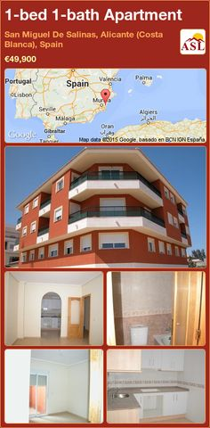 1-bed 1-bath Apartment in San Miguel De Salinas, Alicante (Costa Blanca), Spain ►€49,900 #PropertyForSaleInSpain
