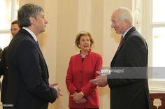 Prince Hans Adam II of Liechtenstein and his wife Princess Marie of Liechtenstein welcome...