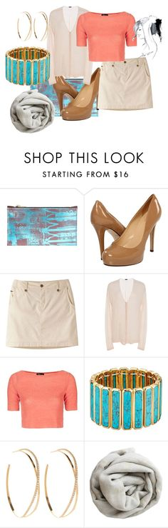 """""""Turquoise and Coral"""" by tanyakountz ❤ liked on Polyvore featuring Kate Spade, Mountain Khakis, ATM by Anthony Thomas Melillo, Topshop, Lauren Ralph Lauren, Lana, Brunello Cucinelli and GE"""