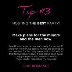 Party Planning Tips - Pure Romance Click The Pin Pure Romance Party, Romance Tips, Pure Romance Consultant, Passion Parties, Marriage Romance, Marriage Problems, Jealousy, Best Part Of Me, Spice Things Up
