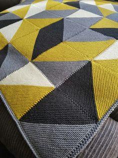 Modern Blanket Knitting Pattern by Buzybee - . Modern Blanket Knitting Pattern by Buzybee - , Moderne Blanket Knitting pattern by Buzybee - Knitted Afghans, Knitted Blankets, Knitting Projects, Crochet Projects, Modern Blankets, Knitting Patterns, Crochet Patterns, Afghan Patterns, Paintbox Yarn