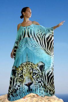 Kaftan In silk Modal. White Kaftan, Silk Kaftan, Silk Tunic, Caftan Dress, Maxi Wrap Dress, Silk Dress, African Fashion Dresses, Fashion Outfits, Womens Fashion