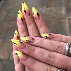 Nail Art Designs For Spring and Summer 2019 Nageldesign, , Nail Art Designs For Spring and Summer 2019 nails. Best Acrylic Nails, Summer Acrylic Nails, Spring Nails, Colorful Nail Art, Cool Nail Art, Bright Nail Art, Yellow Nail Art, Nail Swag, Bright Summer Nails