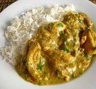 Κοτόπουλο με σάλτσα γιαουρτιού, κάρυ, κάσιους και ρύζι μπασμάτι Food And Drink, Rice, Meat, Chicken, Laughter, Jim Rice, Cubs