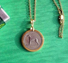 irish sixpence coin jewelry irish wolfhound by vintageirishdresser