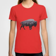 The American Bison by Davies Babies as a high quality T-shirt. Free Worldwide Shipping available at Society6.com from 11/26/14 thru 12/14/14. Just one of millions of products available.