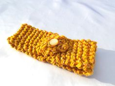 Orange Sacral Chakra Yarn Headband  Handmade by SamiPKCreations