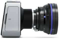 Blackmagic Production Camera You get a large Super 35 size sensor with professional global shutter combined with precision EF mount optics, high quality visually lossless compressed CinemaDNG RAW. Camera Icon, Camera Gear, Cinema Camera, Film Camera, Black Magic Cinema, Real Cinema, Video 4k, Magic Design, Zeiss