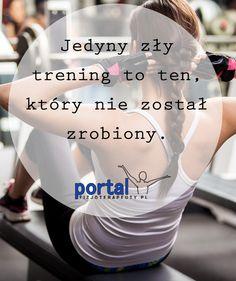 Właśnie tak wygląda jedyny zły trening!  #motywacja #trening #fitness #zdrowie Kili, Portal, Psychology, Las Vegas, Life Quotes, Goals, Gym, Running, Humor