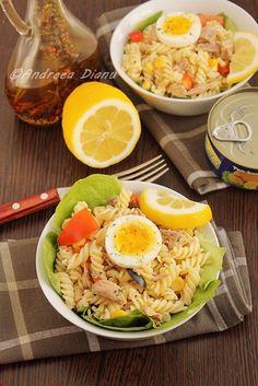 Salata de paste cu ton - Pasiune pentru bucatarie- Retete culinare Paste, Cobb Salad, Food, Essen, Meals, Yemek, Eten