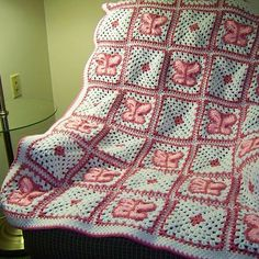 Crochet Butterfly Blanket