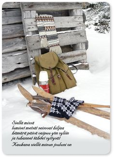 runokortti - Google-haku Finnish Words, Snow Art, Winter Time, Vintage Postcards, Food Pictures, Diy And Crafts, Reusable Tote Bags, Shapes, Christmas