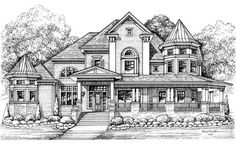 Victorian home plans second empire house plan victorian modular home plans. Luxury House Plans, Dream House Plans, House Floor Plans, Luxury Houses, Dream House Drawing, House Sketch, Victorian House Plans, Victorian Homes, Empire House