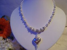 Necklace  swarovski Crystal pearls Sterling by showoffjewels, £129.00