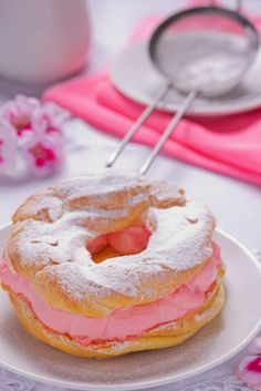 Strawberry Cream Eclairs