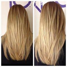 Beautiful long layers. Sometimes miss my long hair.