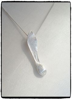 Fine silver clay sycamore / maple seed pendant.