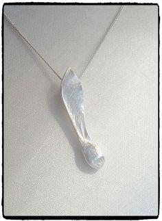 Fine silver clay sycamore / maple seed pendant.