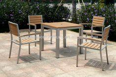 Por Outdoor Garden Chair Used Teak Furniture Stainless Steel Restaurant