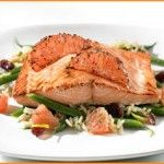 Sugar-crusted Salmon with Florida Grapefruit and French Green Bean Salad #TheBestLife #recipe