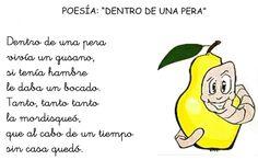 """Lenguaje Oral en Ed Infantil: Poesía: """"Dentro de una pera"""""""