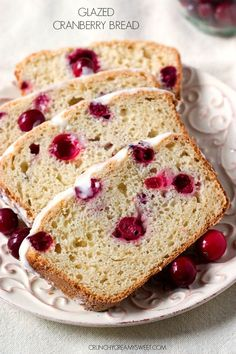Glazed Cranberry Sweet Bread