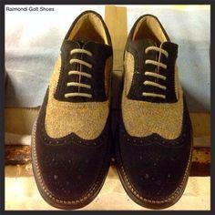 Raimondi Walking Shoes.. linea passeggio.. Modello Milano, suede e  inserto in tessuto #raimondigolfshoes #golfshoes #italiangolfshoes #madeinitaly #handmadeinitaly #italianstyle #walkingshoes #man #woman #italy