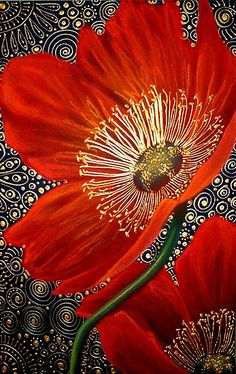 Red Velvet Poppies - Art Quilt - by Cherie Roe DirksenRed Velvet Poppies ~ artist Cherie Dirksen, chalk pastel acrylic liner, x Private collection.Chalk Pastel and Acrylic Liner on Canson Paper / x / Come join me at my site (click pho…In depth Interview Art Floral, Flower Quilts, Chalk Pastels, Silk Painting, Poppies Painting, Bottle Painting, Fabric Art, Painting Inspiration, Textile Art
