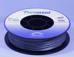 Antibacterial 3D printing filament, Purement, in Silver www.cleanstrands.com