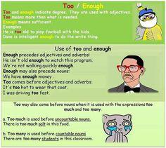 TOO & ENOUGH #learnenglish @Antri Parto