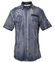 Roar Clothing Unconditional Shirt (Navy) - Roar Mens - $94.98 #fall #short-sleeve #shirt #navy