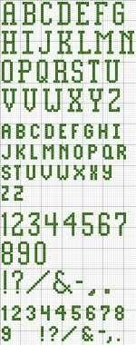 Block Alphabet 25 Printable Cross Stitch Pattern
