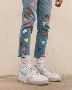 Pin by ally m on shoes in 2019 fashion outfits, fashion, Indie Outfits, Hip Hop Outfits, Cool Outfits, Painted Jeans, Painted Clothes, Diy Clothing, Custom Clothes, Diy Fashion, Fashion Outfits