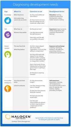 Business and management infographic & data visualisation Diagnosing Employee Development Needs Infographic Infographic Description Diagnosing Employee Training And Development, Career Development, Training Plan, Training Tips, John Maxwell, Mbti, Organization Development, Leadership Coaching, Leadership Qualities