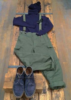 Nigel Cabourn Military Green, Military Jacket, Army Pants, Gents Fashion, Cool Jackets, Green Style, My Style, Sports Jacket, Green Fashion