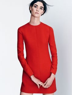 10 Classic Minimal Red Winter Looks From Vogue Spain via @WhoWhatWear