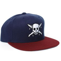 bae24d569cf Fourstar Pirate Snapback Hat (Navy Burgundy)  26.95 Snapback Hats