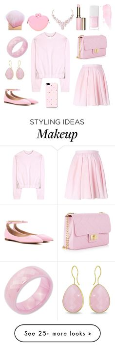 """PINK. LOVE STYLE"" by lana-smotveeva on Polyvore featuring Acne Studios, Carven, Gianvito Rossi, Design Inverso, Christian Dior, Clarins, Kevin Jewelers, Ice, Humble Chic and women's clothing"